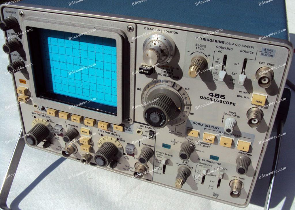 ancien oscilloscope Tektronix 485