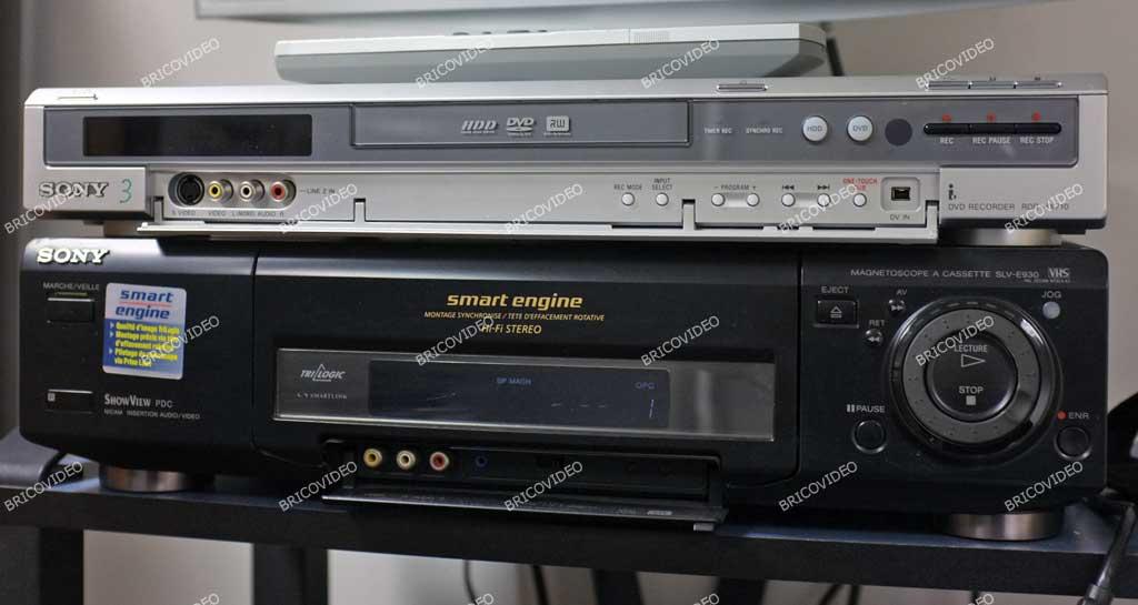 brancher graveur DVD magnétoscope VHS