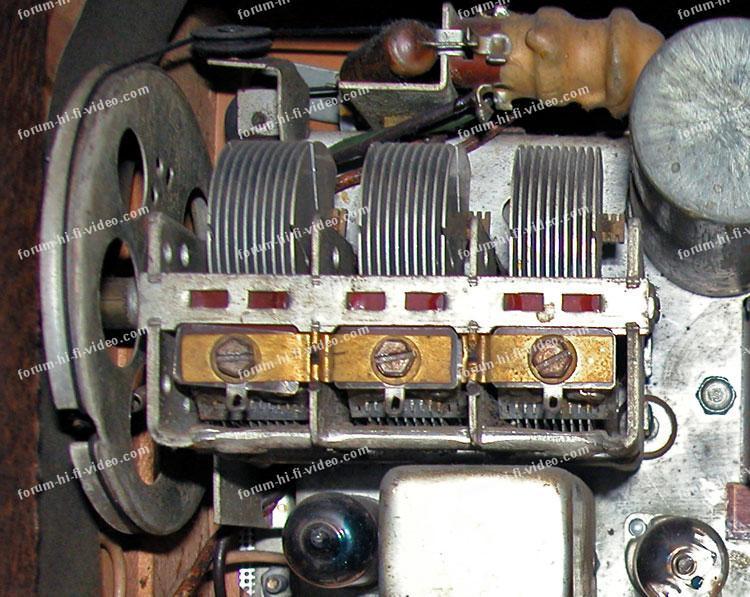 condensateur variable poste de radio