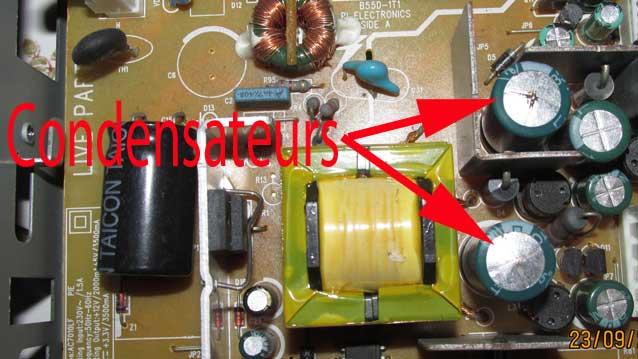 2 condensateurs à remplacer