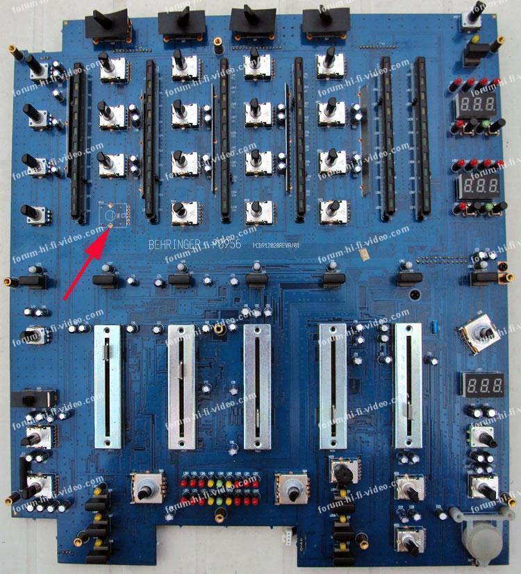 dépannage table de mixage Behringer DJX750