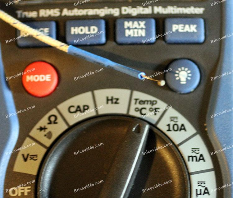 mesure de température avec un multimètre