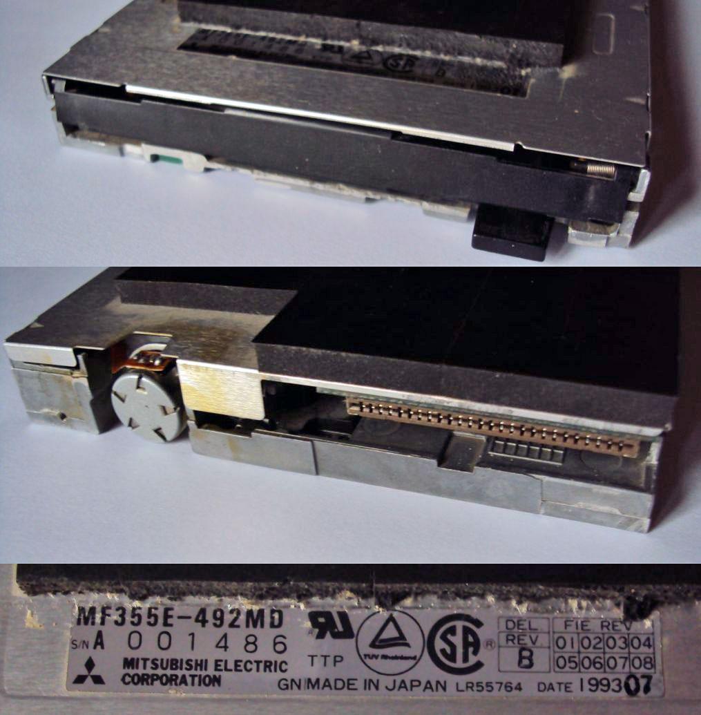 Lecteur de disquette Mitsubishi MF355E-492MD