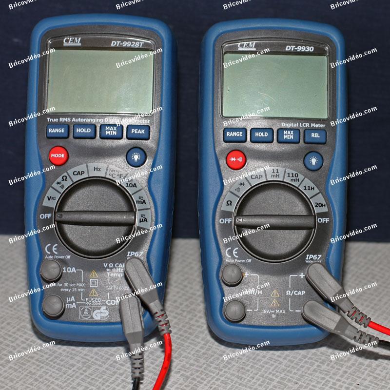 Multimètre et capacimètre outils mesure dépannage