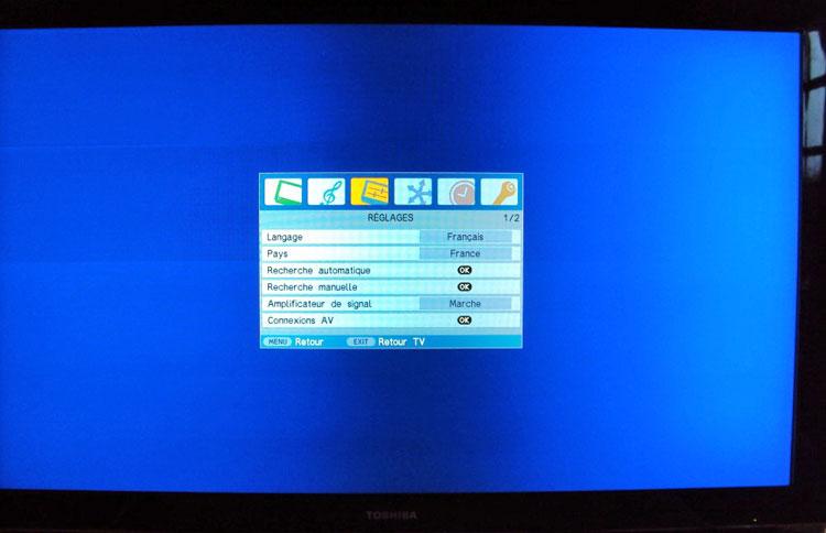 problème dalle TV Toshiba 52 pouces